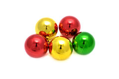 Decoration balls. Color decoration balls on white background royalty free stock image