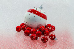Decoration balls. In red and White Stock Image