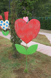 Decoration banner in shape of heart tree Royalty Free Stock Image
