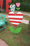 Decoration banner in shape of heart tree Stock Image