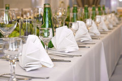 Decoration of banquet table Royalty Free Stock Photography