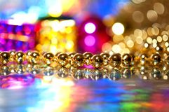 Decoration beads on colorful abstract background Royalty Free Stock Photo
