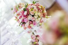 Decoration with beautiful roses Stock Photos