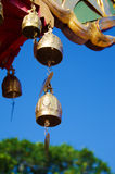 Decoration Bell on Buddha Temple roof Royalty Free Stock Photo