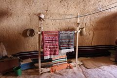 The decoration of the Berbers in the cave royalty free stock photography