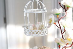 Decoration birds and flowers. Decoration interior with birds and flowers Stock Photos