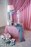 Decoration birthday with gifts Royalty Free Stock Photo