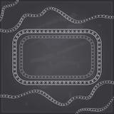Decoration on Black Chalkboard Invitation Card Royalty Free Stock Photography