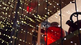 Decoration bokeh holiday. Christmas and New Year decoration stock video