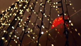 Decoration bokeh holiday. Christmas and New Year decoration stock video footage