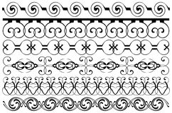 Decoration borders set Royalty Free Stock Photos