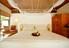 Decoration of a boutique resort room Stock Images