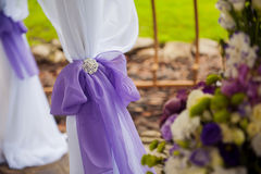 Decoration bow on wedding Stock Images