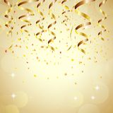 Happy new year background with golden confetti. Illustration of Happy new year background with golden confetti Royalty Free Stock Photo