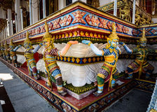Decoration in buddhist temple, Thailand Royalty Free Stock Photo
