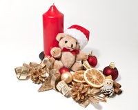 Decoration with a candle Stock Photography