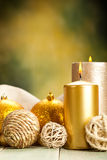 Decoration candles stock images