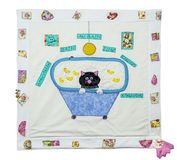 Decoration Cat Quilt. Close up of  Decoration Cat Quilt in a bathtub Royalty Free Stock Photo