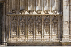 Decoration at the Cathedral of Girona. Spain stock photography