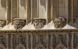 Decoration at the Cathedral of Girona. Spain stock images