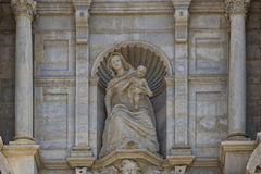 Decoration at the Cathedral of Girona. Spain stock image
