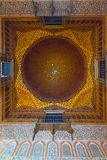 Decoration ceiling Royal Alcazar of Sevilla. Andalusia, Spain royalty free stock images