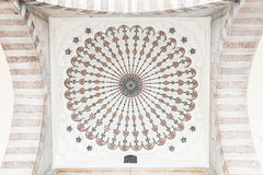 Decoration of Ceiling in Suleymaniye Mosque Royalty Free Stock Images