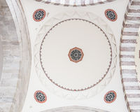 Decoration of Ceiling in Suleymaniye Mosque Royalty Free Stock Photography