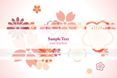 Decoration cherry blossoms background Royalty Free Stock Photos