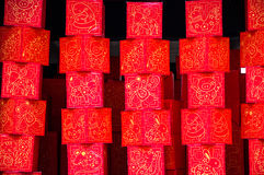Decoration for Chinese New Year, Singapore. Ligthbox, decoration for Chinese New Year, Singapore Stock Photography