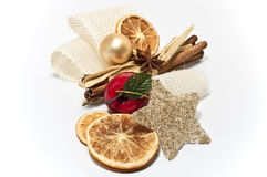 Decoration for christmas. Christmas decoration on white background Stock Photography