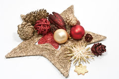 Decoration for christmas. In red and gold Stock Photography