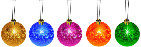 Decoration christmas ball Stock Photos