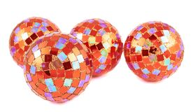 Decoration christmas ball composition Royalty Free Stock Images