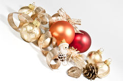 Decoration with christmas balls. Christmas decoration in several colors Royalty Free Stock Photo