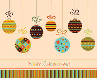 Decoration with christmas balls. Royalty Free Stock Photo