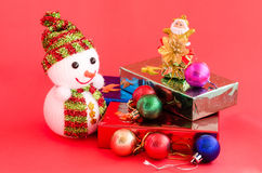 Decoration of christmas and gift box Stock Image