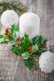 Decoration for Christmas. Including candle and toy Stock Photography