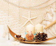 Decoration for christmas in marine style Stock Photos