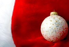 Decoration Christmas New Year silver ornament ball Royalty Free Stock Images
