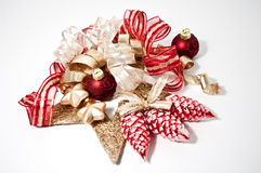 Decoration for christmas in red Royalty Free Stock Photography