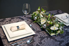 Decoration on christmas table Royalty Free Stock Photo