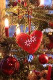 Decoration on Christmas tree Stock Images