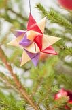 Decoration in a christmas tree Stock Images