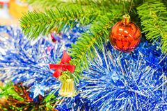 The decoration christmas tree Stock Images