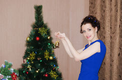 Decoration of Christmas tree Royalty Free Stock Photography
