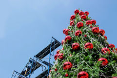 decoration Christmas tree with construction stair Stock Image