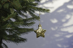 Decoration in christmas tree Royalty Free Stock Photography