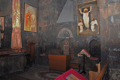 The decoration of the church of Khor Virap, Armenia Stock Image
