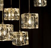Closeup view of contemporary light fixture.  Royalty Free Stock Image